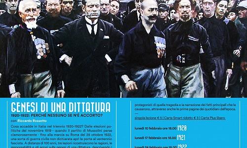"""Genesi di una dittatura: 1920-1922: perché nessuno se n'è accorto?""."